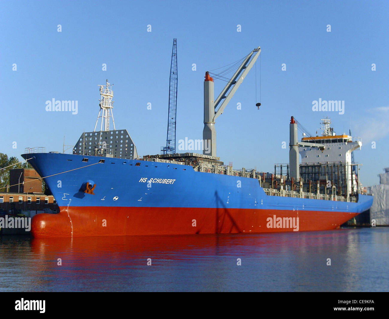 container ship HS Schubert - Stock Image
