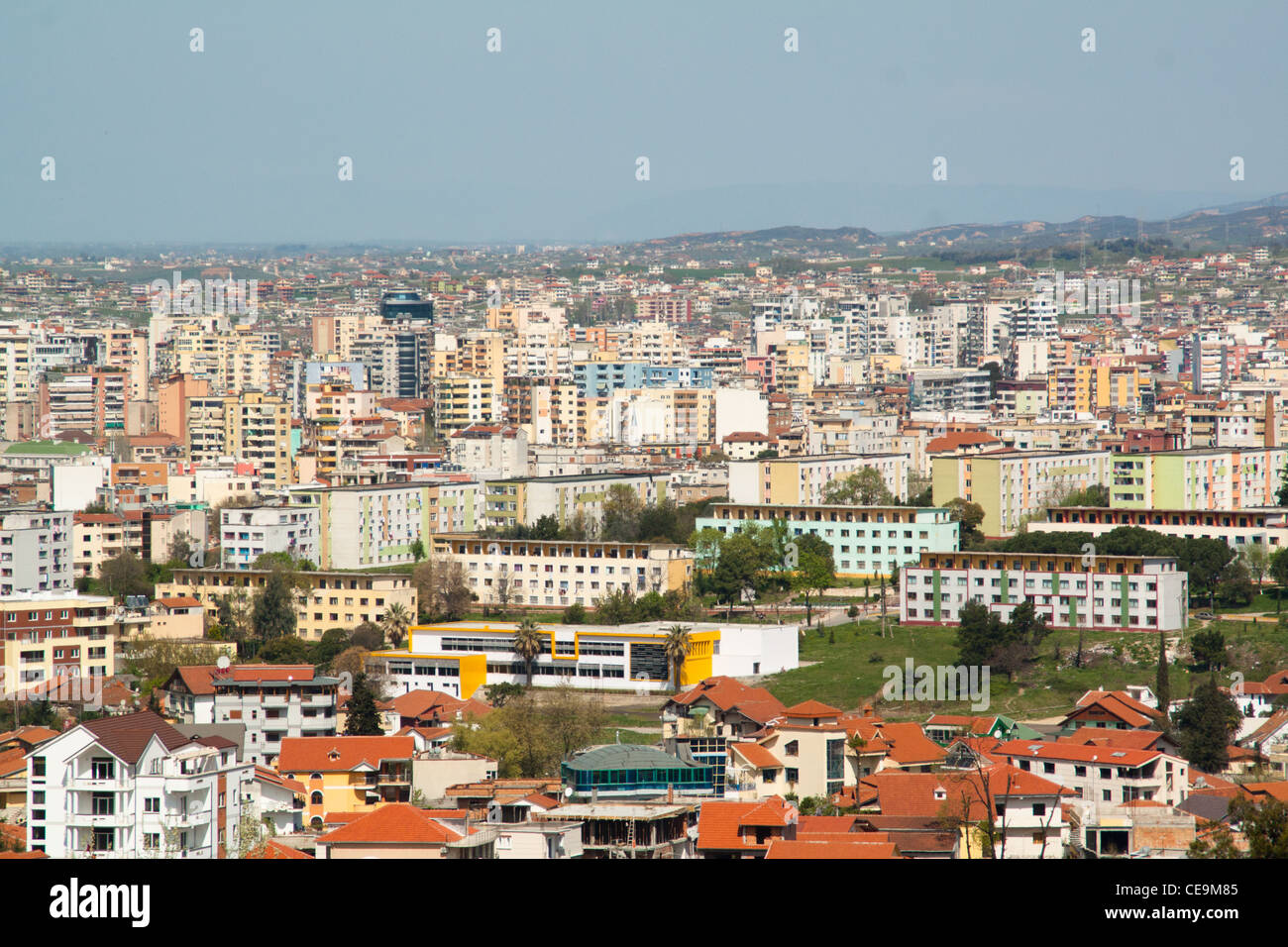 View over the city of Tirana, Albania - Stock Image