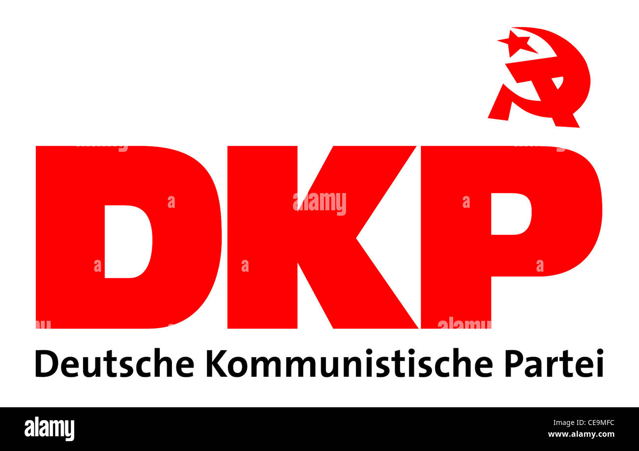 Logo of the German Communist Party DKP. - Stock Image