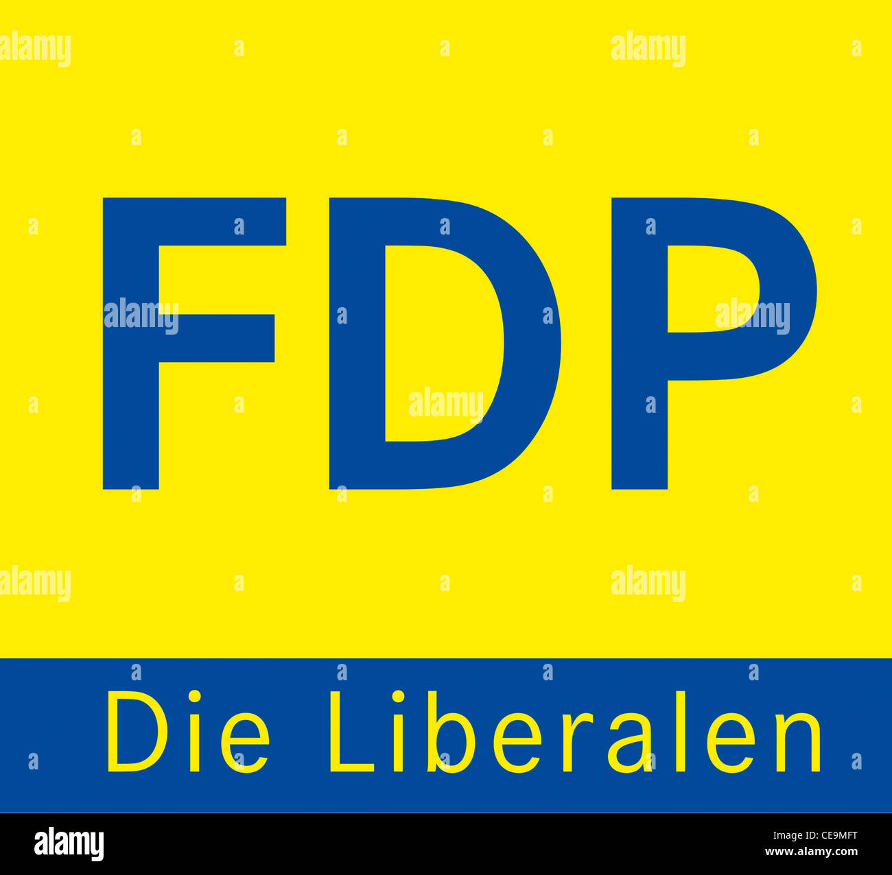 Logo of the Free Democratic Party of Germany FDP. - Stock Image