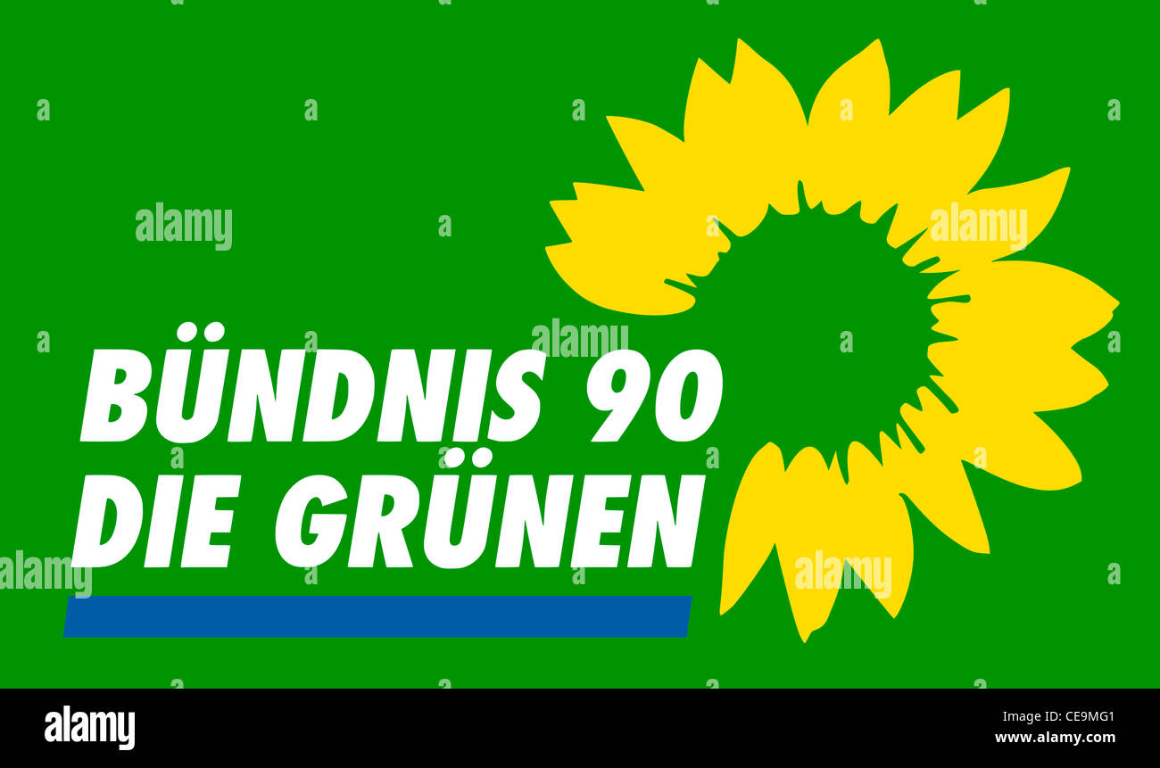Logo of the German political party Buendnis 90 - Die Gruenen. - Stock Image