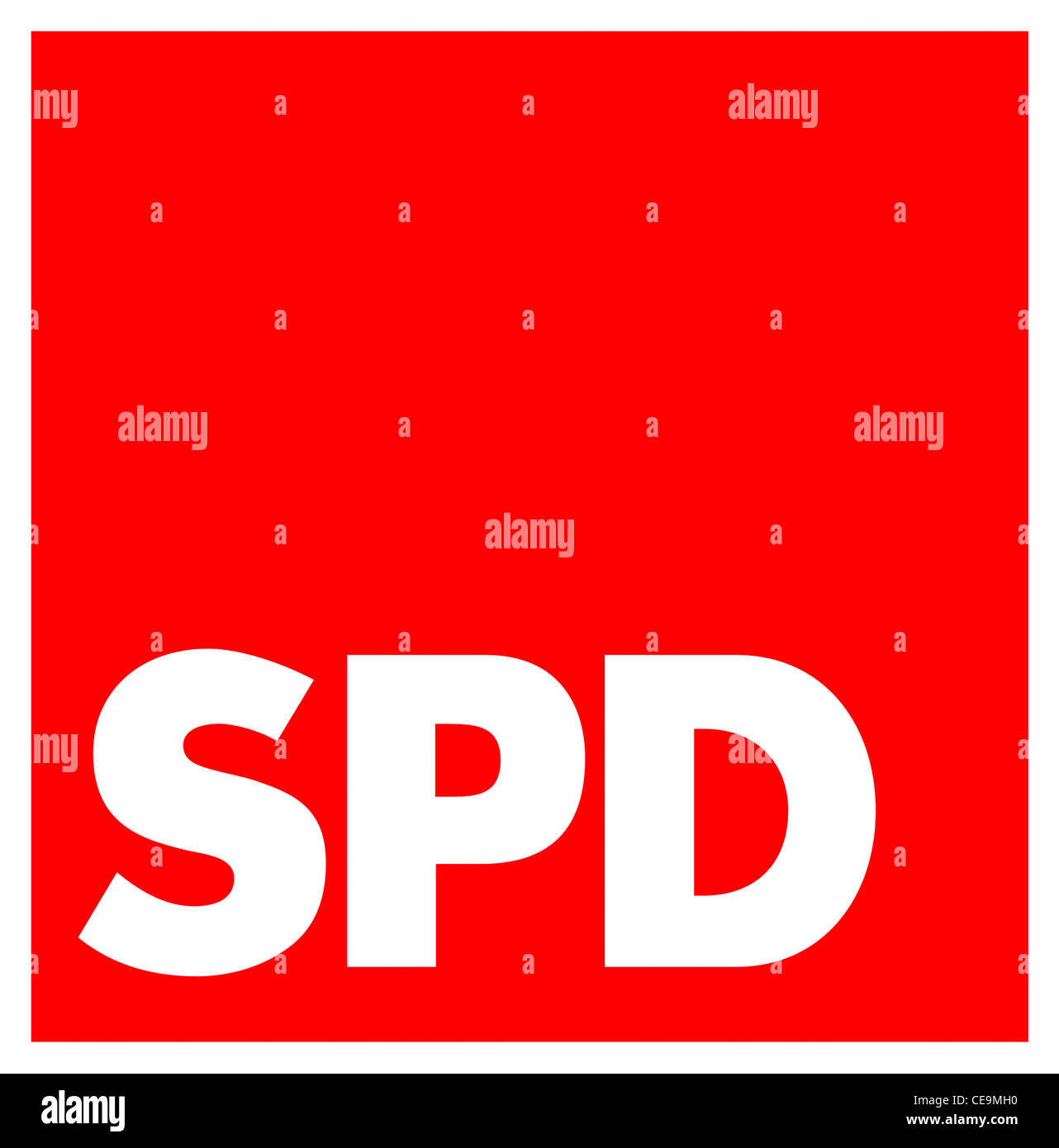 Logo of the Social Democratic Party of Germany SPD. - Stock Image