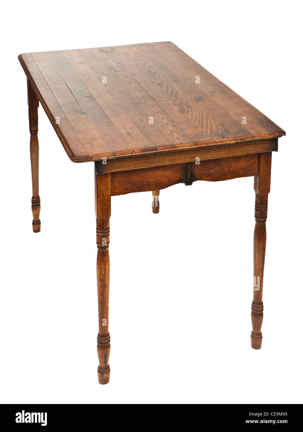 Antique Victorian wooden folding table Stock Photo
