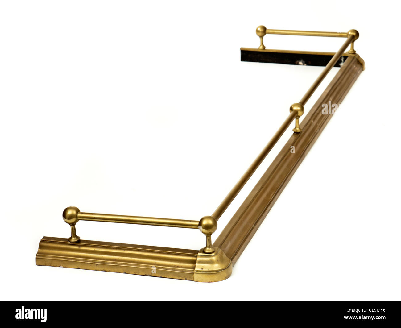 Antique Victorian Brass Fireplace Fender Stock Photo 43239930 Alamy