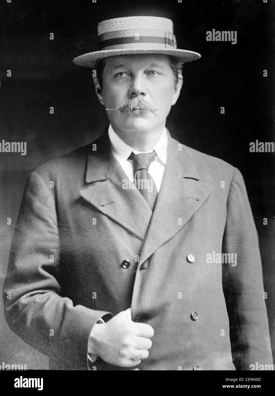 Sir Arthur Conan Doyle, Scottish physician and writer Sir Arthur Conan Doyle - Stock Image