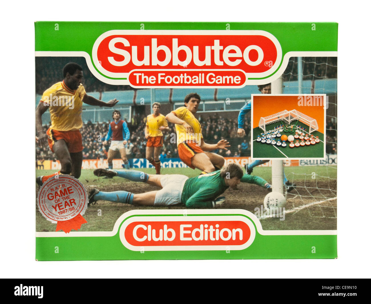 Vintage 1980's Subbuteo 'Club Edition' football game - Stock Image