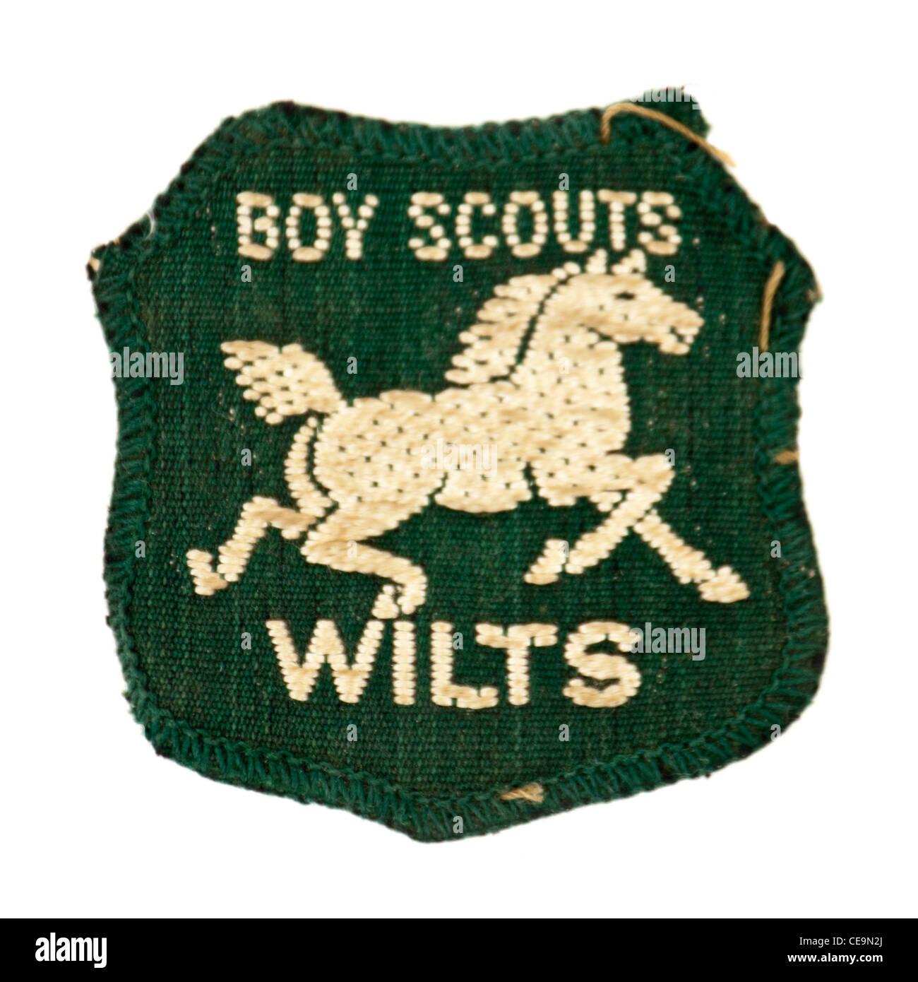 Vintage Boy Scouts uniform patch (Wiltshire, England) - Stock Image