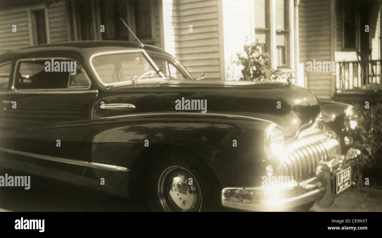 1947 Car with Ohio plates 1940s american automobile two door - Stock Image