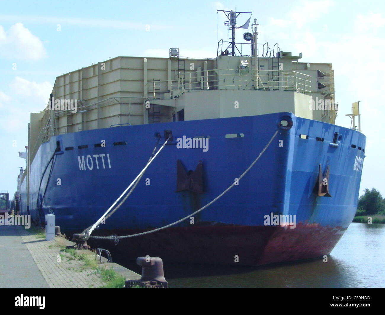 barge without propulsion Motti in Bremerhaven - Stock Image