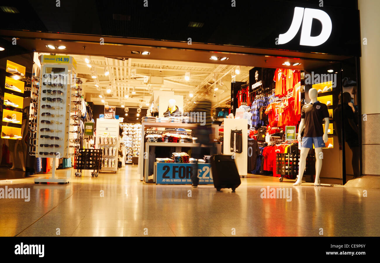 JD sport shop in Manchester airport. England, UK Stock Photo