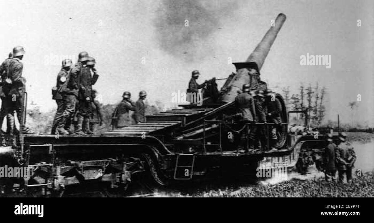 world war one big bertha German artillery guns - Stock Image