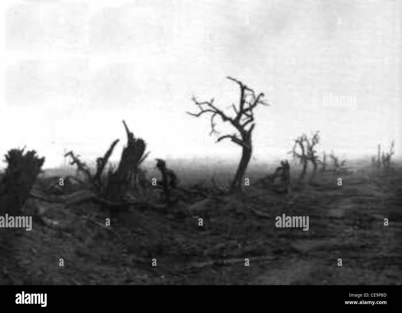 world war 1 No Man's Land. - Stock Image