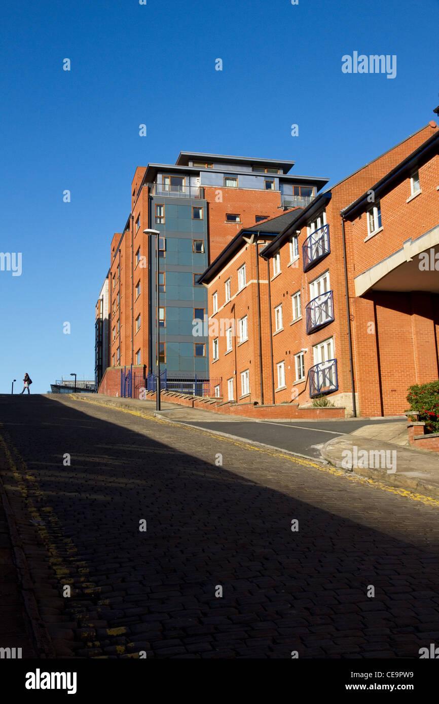 New apartments development on Jutland Street, near Piccadilly station, city centre, Manchester,. England, UK - Stock Image