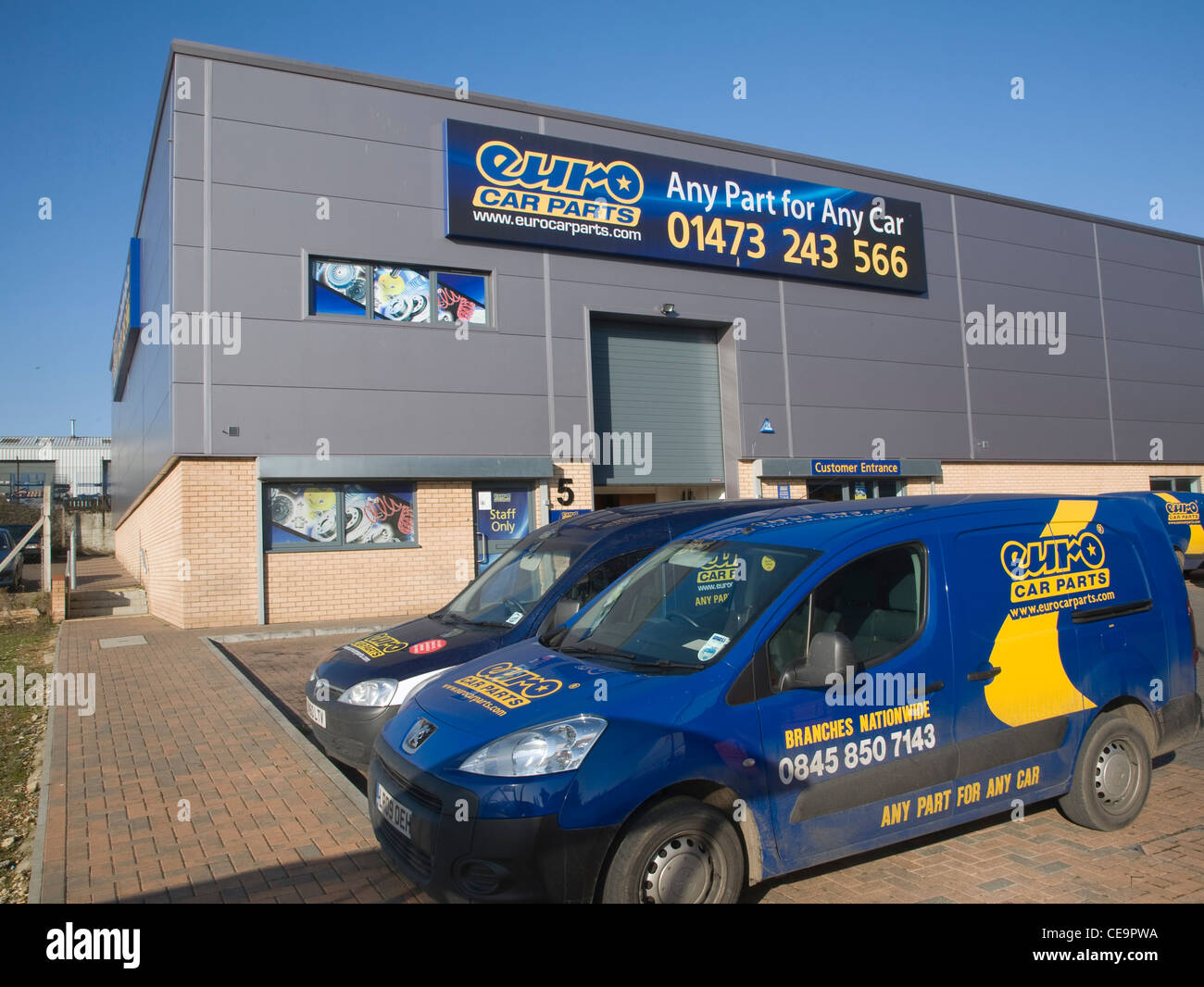 Euro Car Parts Depot Ipswich England Stock Photo 43241446 Alamy