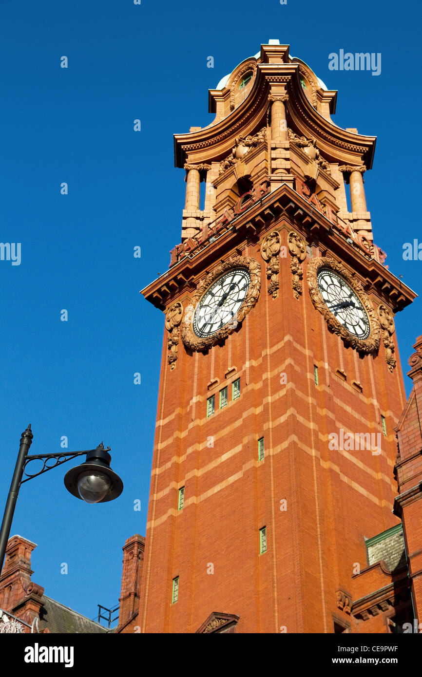 Clock Tower of Palace Hotel, formerly Refuge Assurance Building, Oxford Street, Manchester, UK - Stock Image