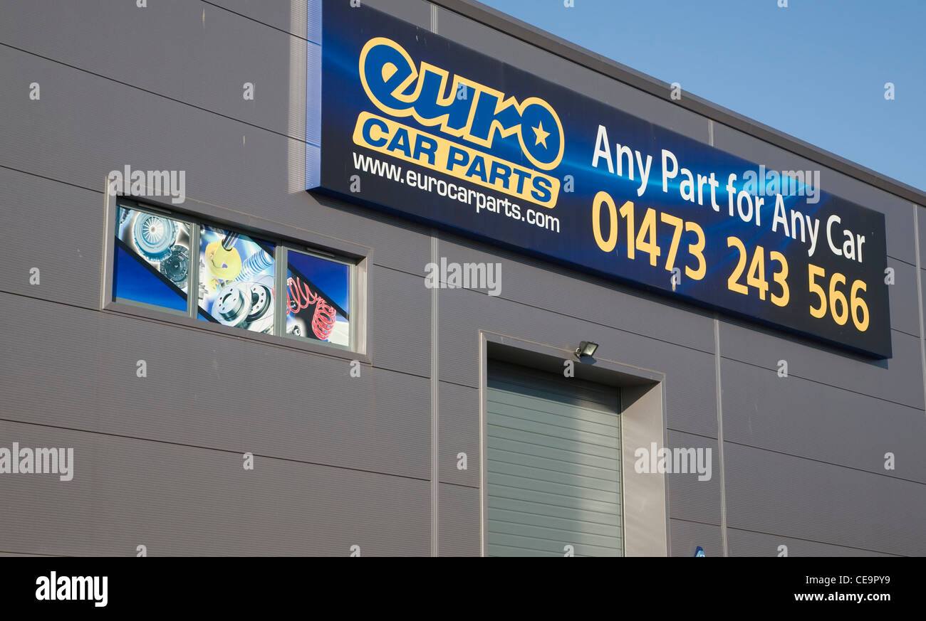 Euro Car Parts Depot Ipswich England Stock Photo 43241501 Alamy