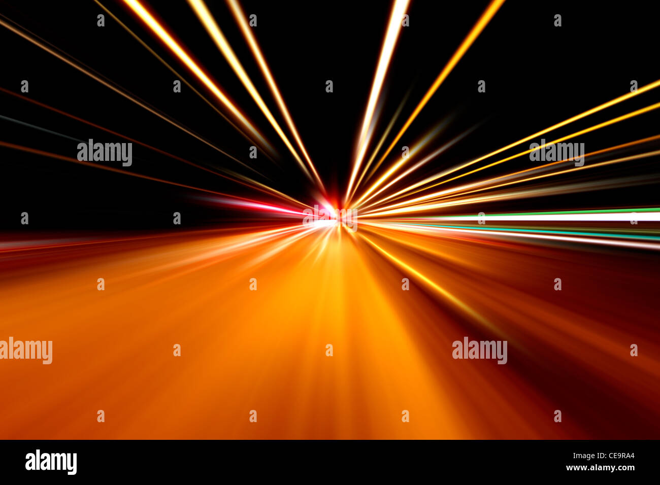 rapid race of night street - Stock Image