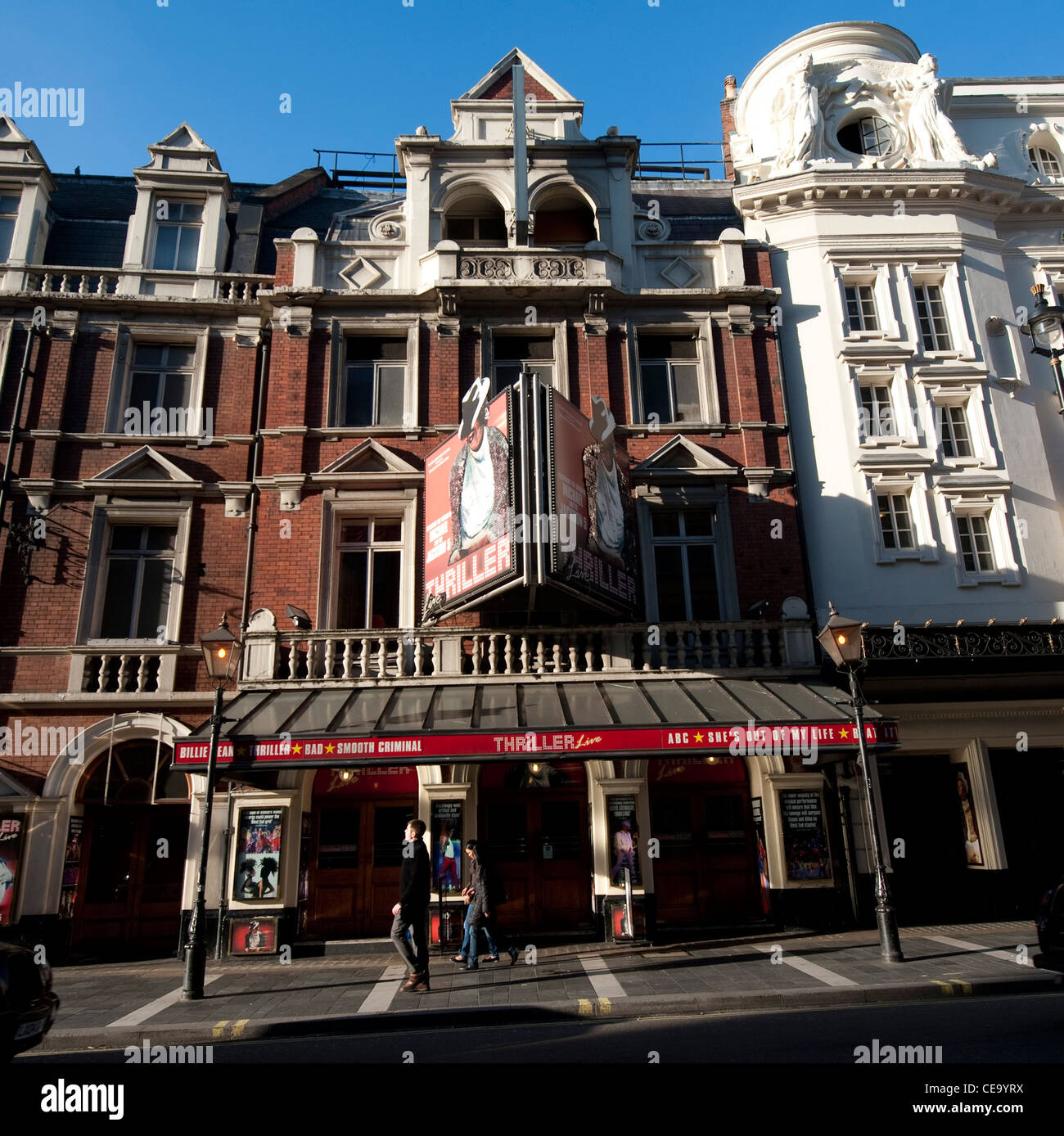 Shaftesbury Avenue, Theatreland London Theatres - Stock Image