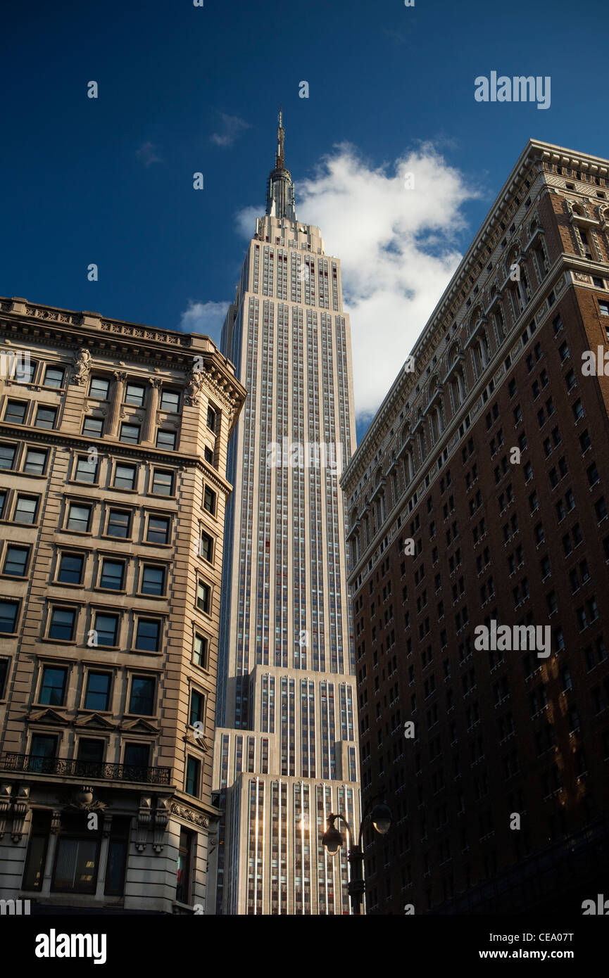 View of the Empire State building, New York, USA - Stock Image