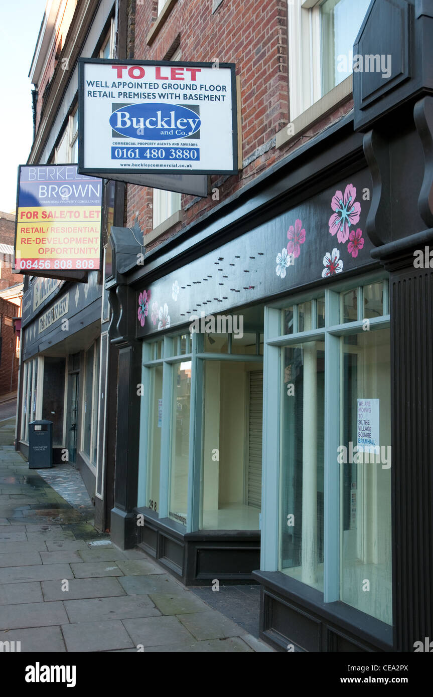 In 2011  The Local Data Company reported that Stockport had the highest percentage of empty shops in the Large Centres - Stock Image