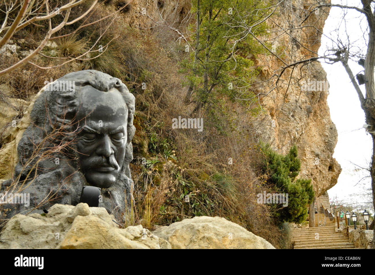 The Khalil Gibran Museum and Gibran's final resting place in Bsharri, Lebanon - Stock Image