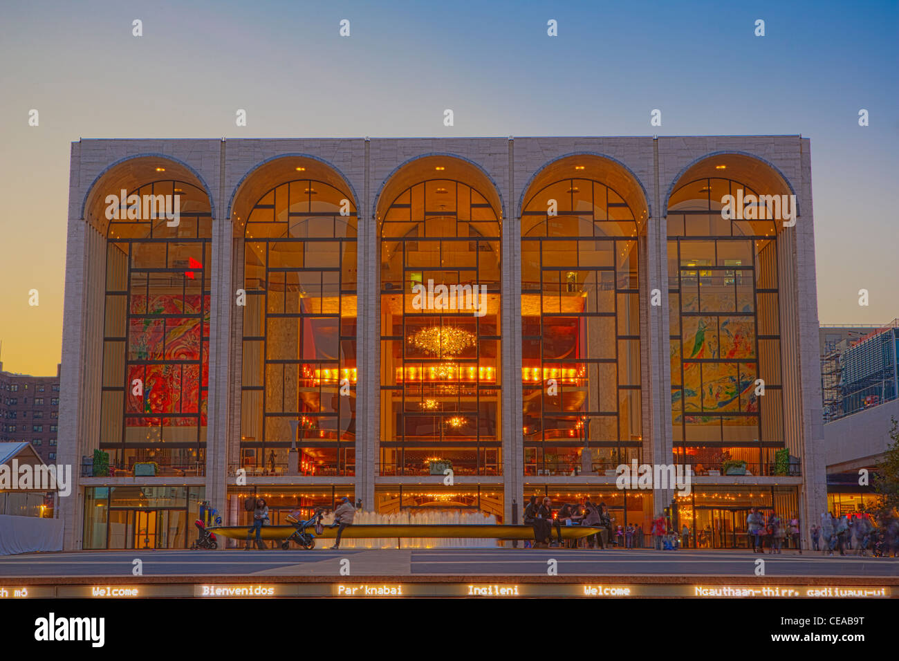 Metropolitan Opera House at Lincoln Center for the Performing Arts - Stock Image