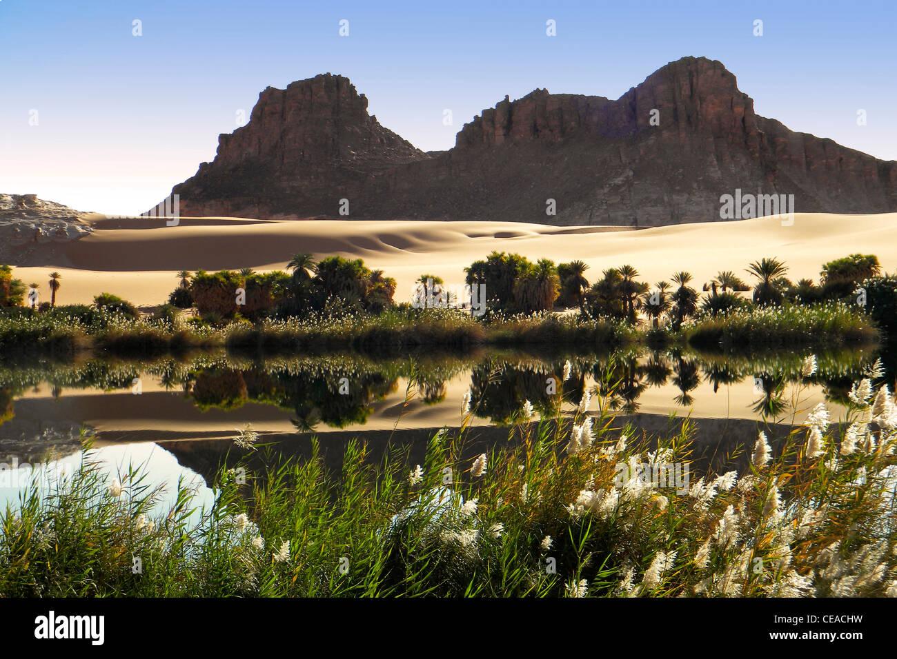 Ounianga lake, Erdi region, Chad - Stock Image
