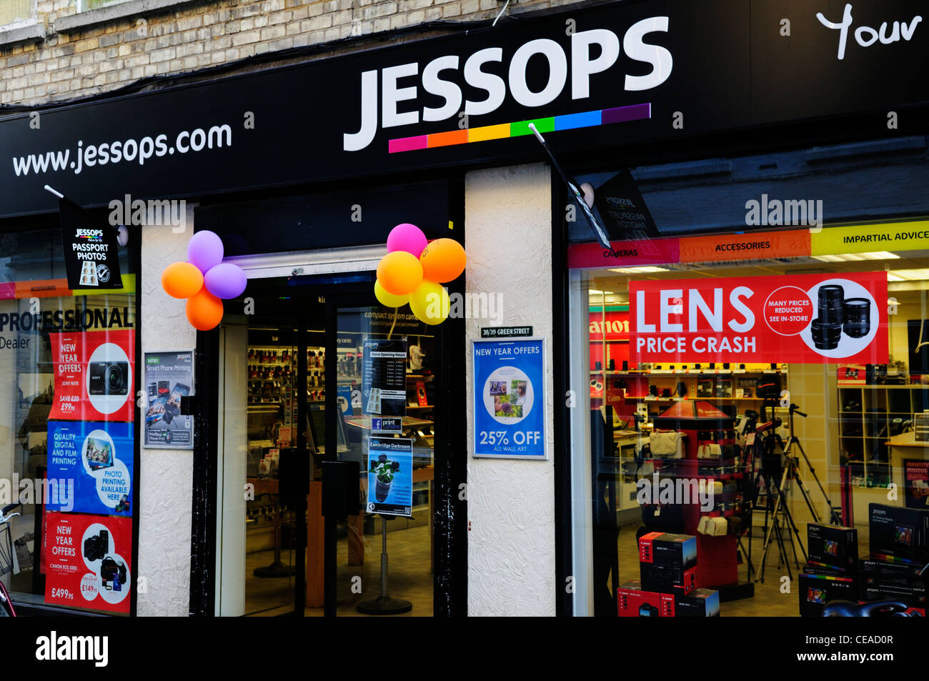 Jessops Camera Shop, Cambridge, England, UK - Stock Image