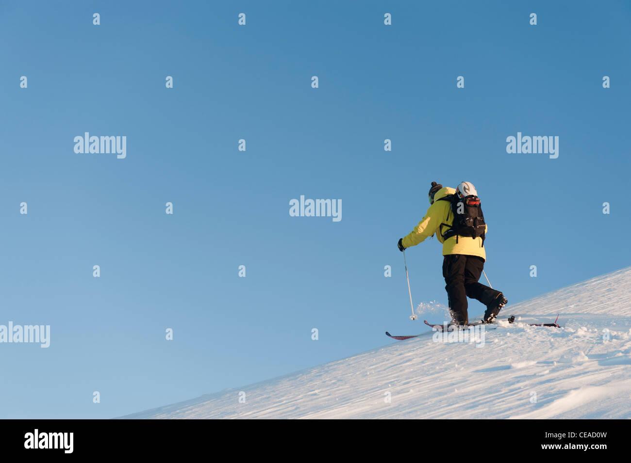 Ski touring in Kittelfjäll, Sweden. - Stock Image