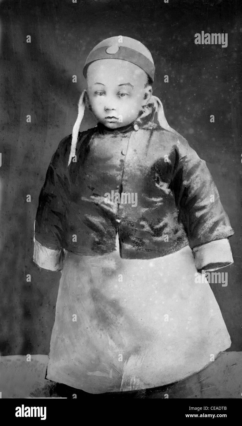 Three year old Emperor of China, Pu Yi. - Stock Image