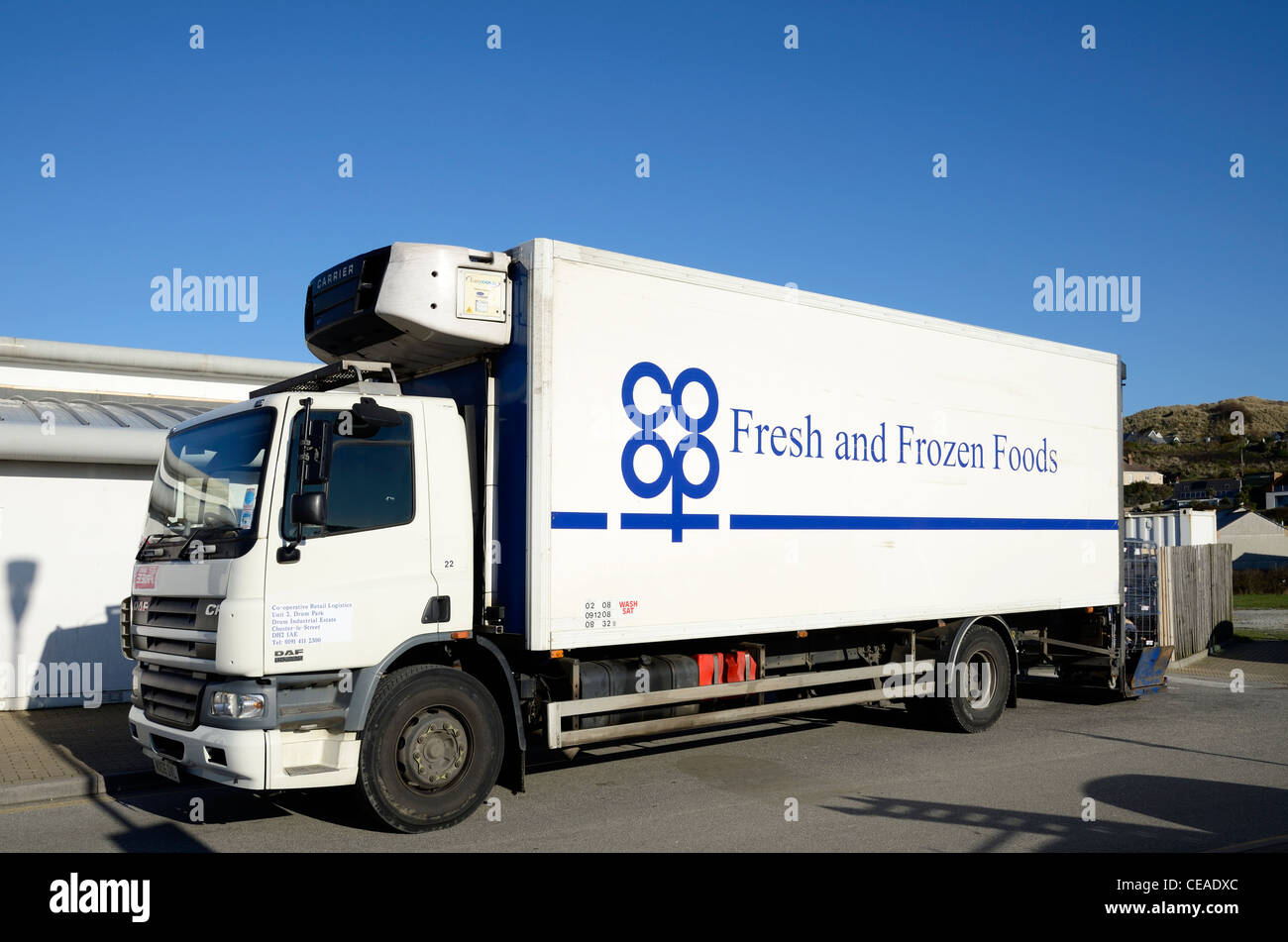 A co-op delivery truck - Stock Image