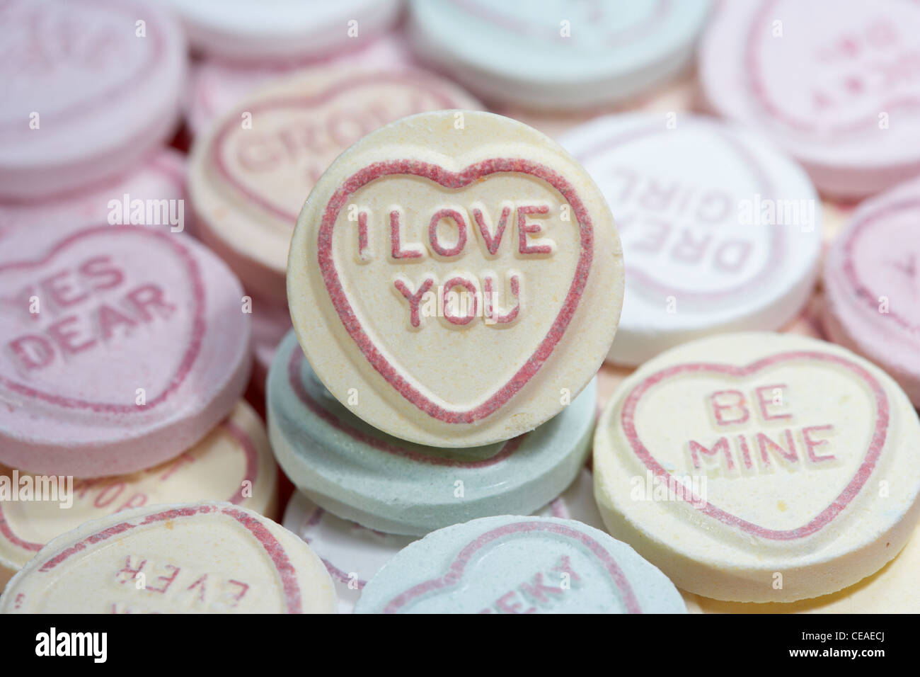 I Love You Amongst Love Heart Sweets Stock Photo 43256770 Alamy