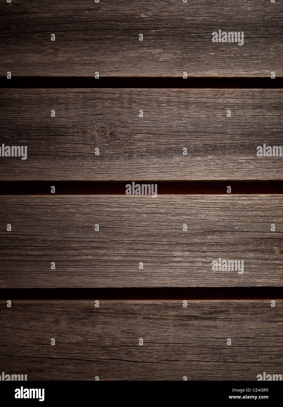 Nicely weathered grey background detail of barn wood boards. - Stock Image