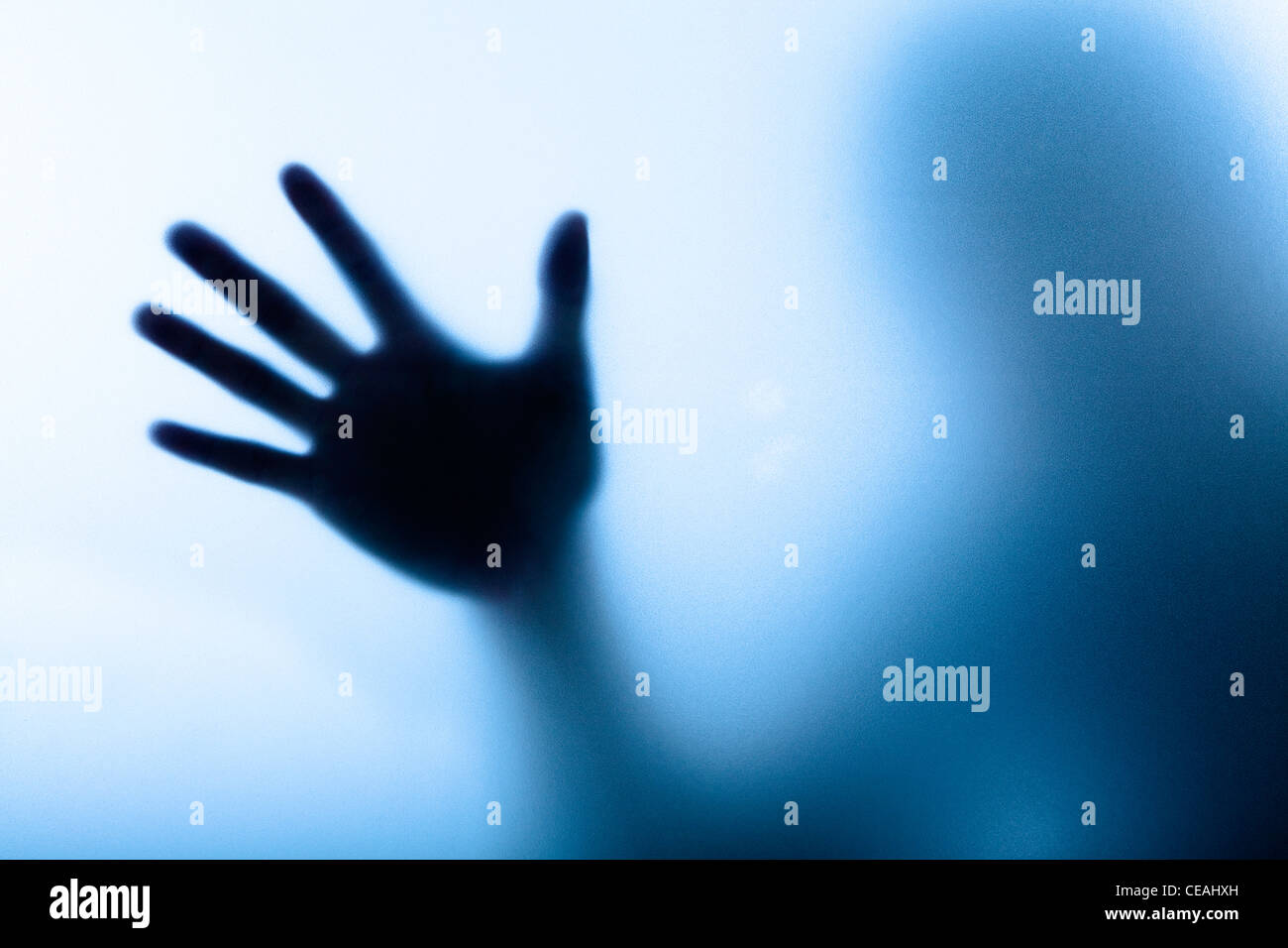 Diffuse image of a hand - Stock Image
