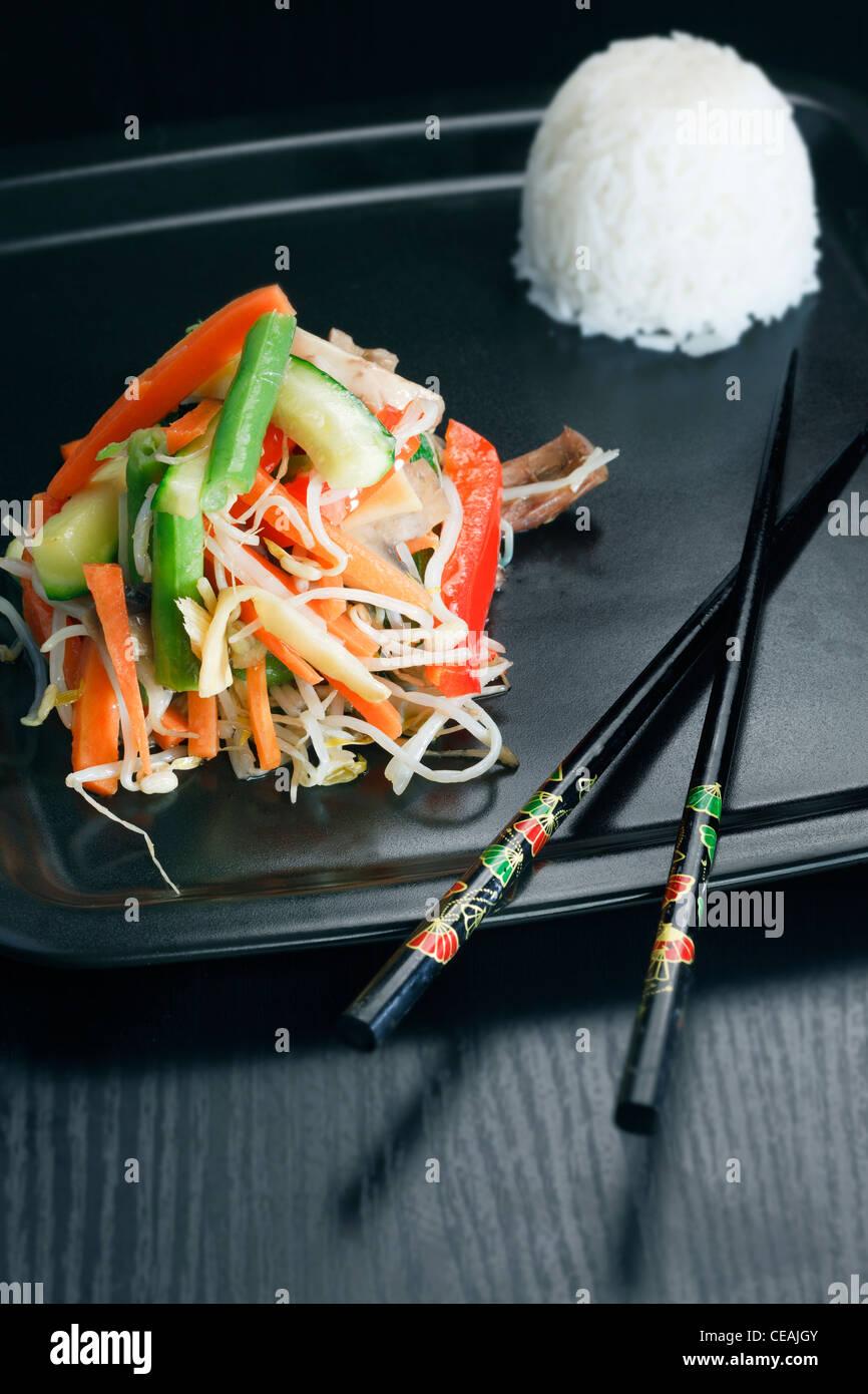 vegetable stir fry - Stock Image
