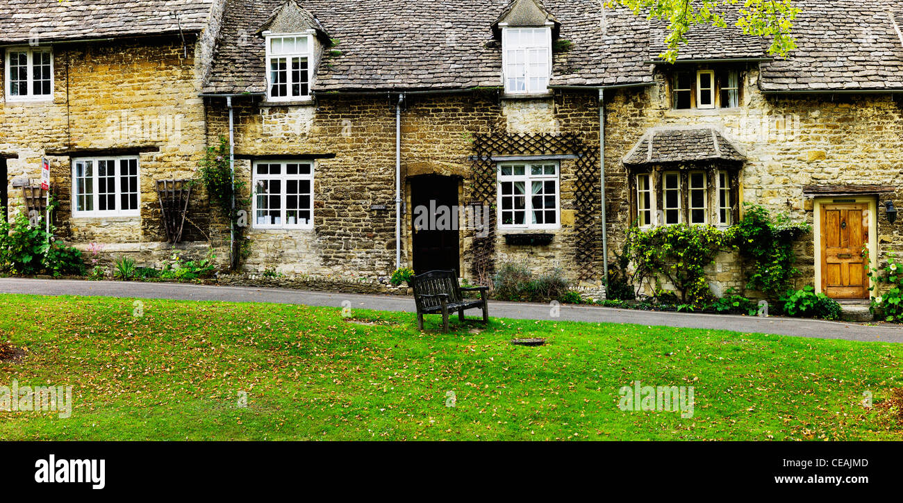 burford village cotswolds oxfordshire - Stock Image
