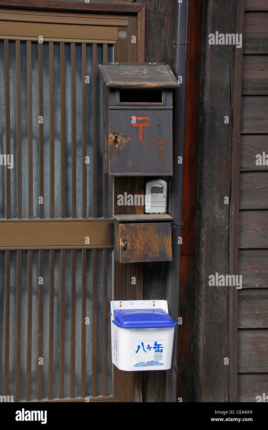 A Letter Box And A Milk Delivery Box On A House Door Narai