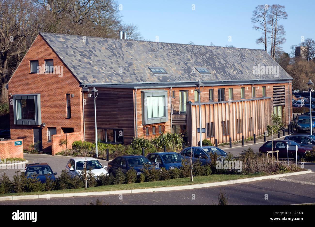 Framfield House NHS health centre, Woodbridge, Suffolk, England Stock Photo
