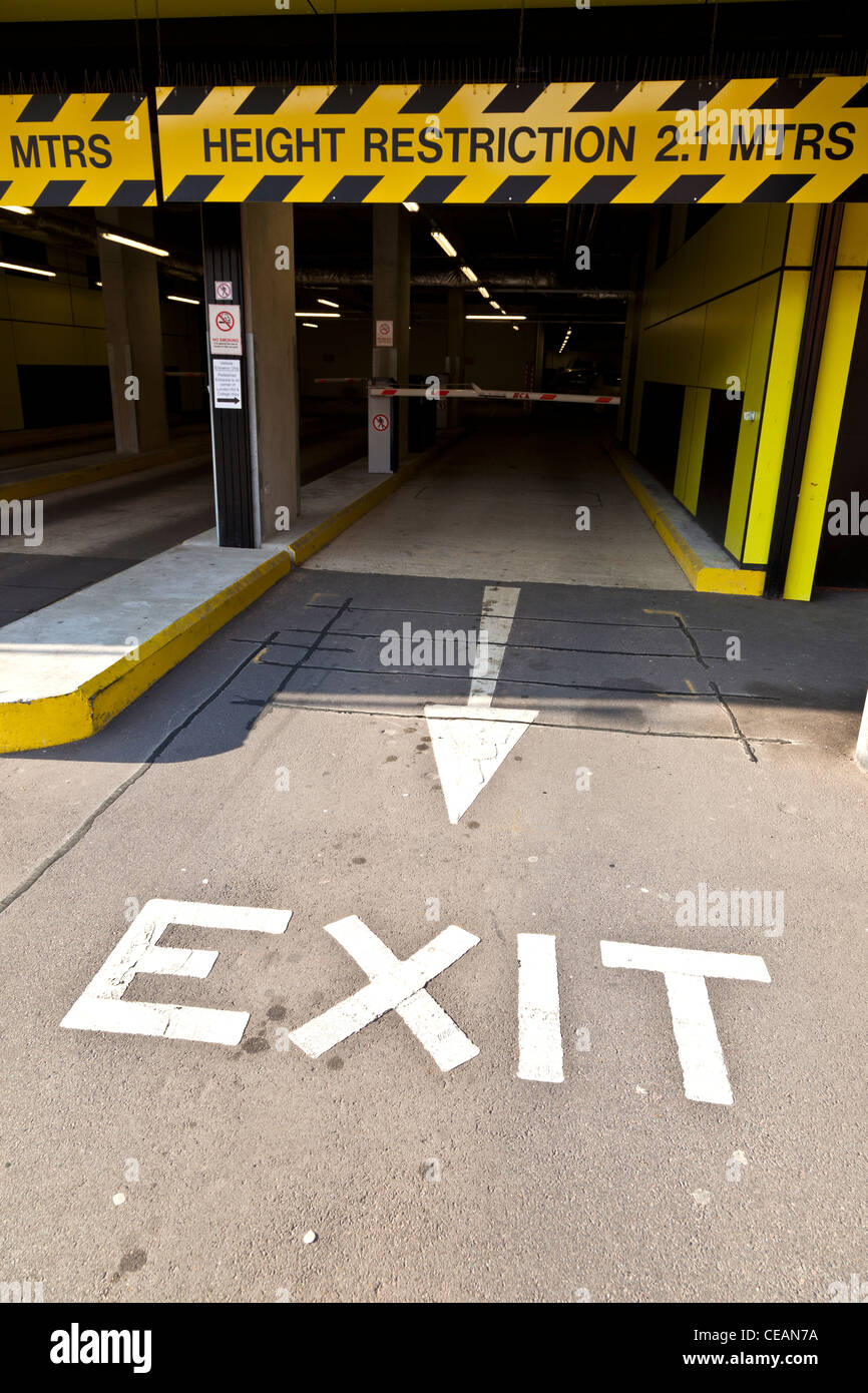 Exit from Underground Car Park - Stock Image