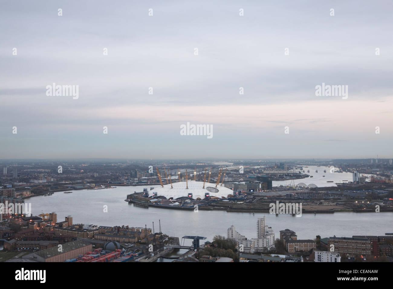 River Thames, The O2 Arena East, London, England Stock Photo