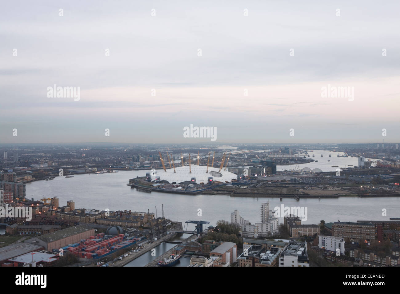 River Thames, The O2 Arena East, London, England - Stock Image