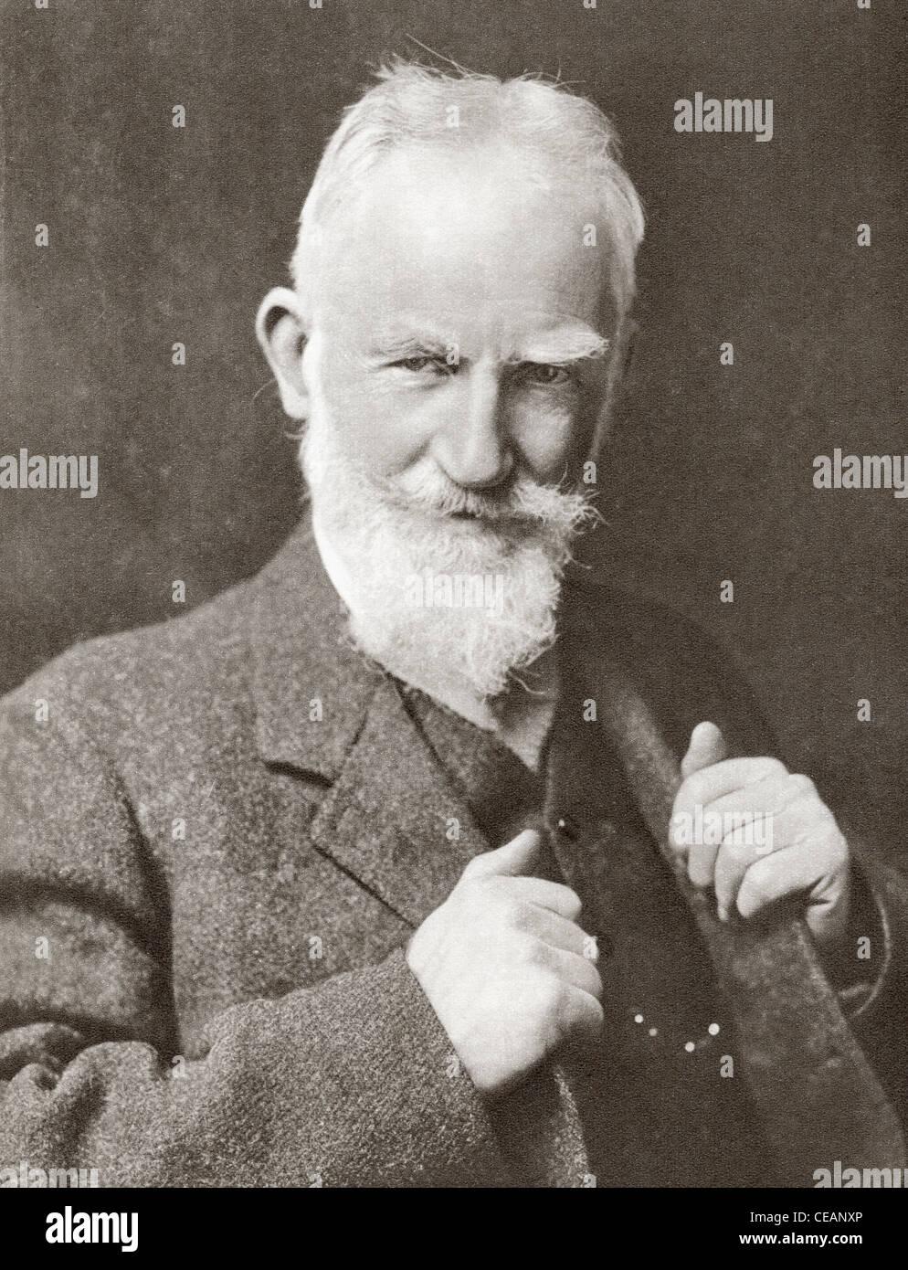 George Bernard Shaw, 1856 – 1950. Irish playwright, critic, political activist and Nobel Prizewinner. - Stock Image