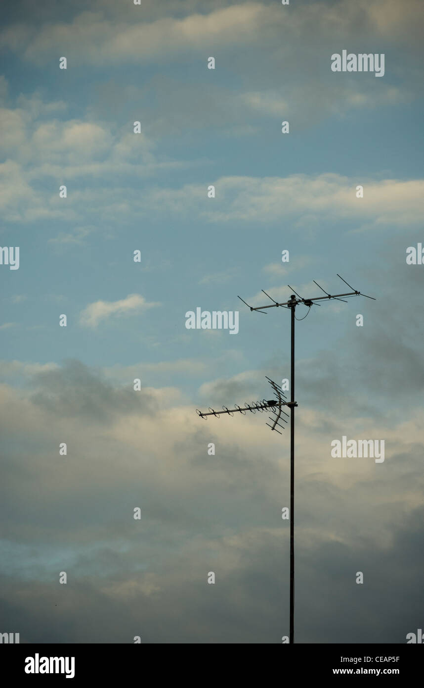 Aerials and sky - Stock Image