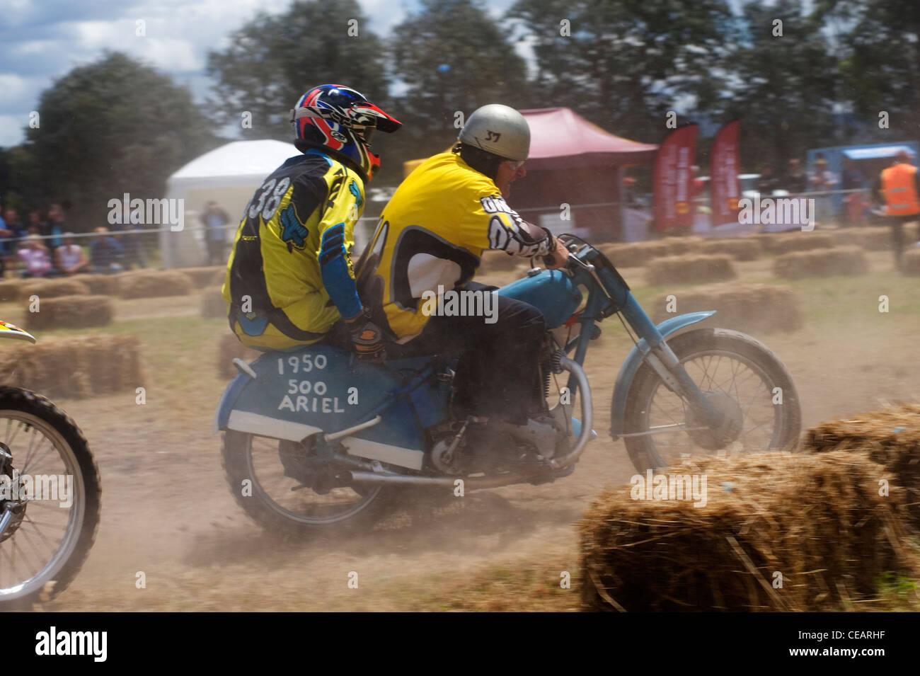 dirt bike sidecar racing - Stock Image