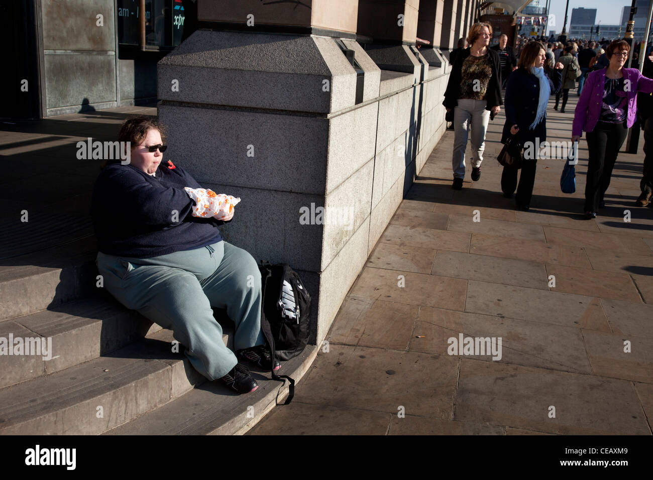 large-woman-sits-eating-fast-food-CEAXM9.jpg