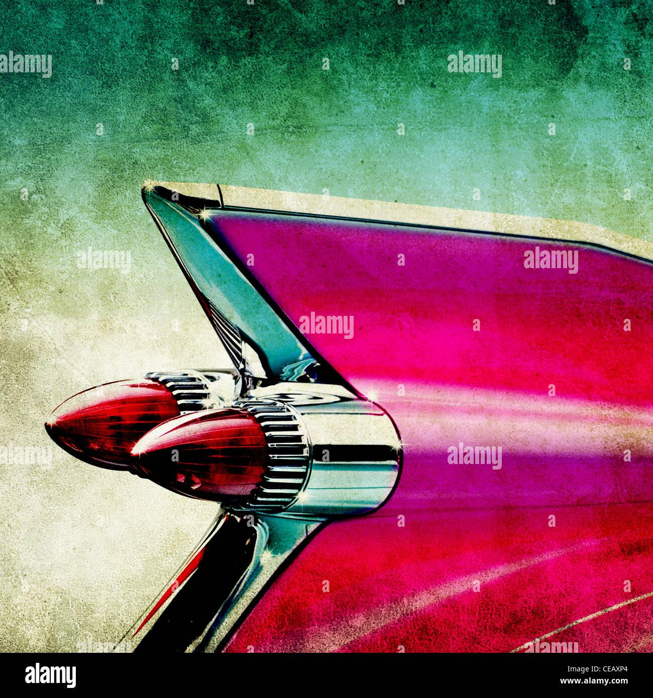 pink cadillac - Stock Image