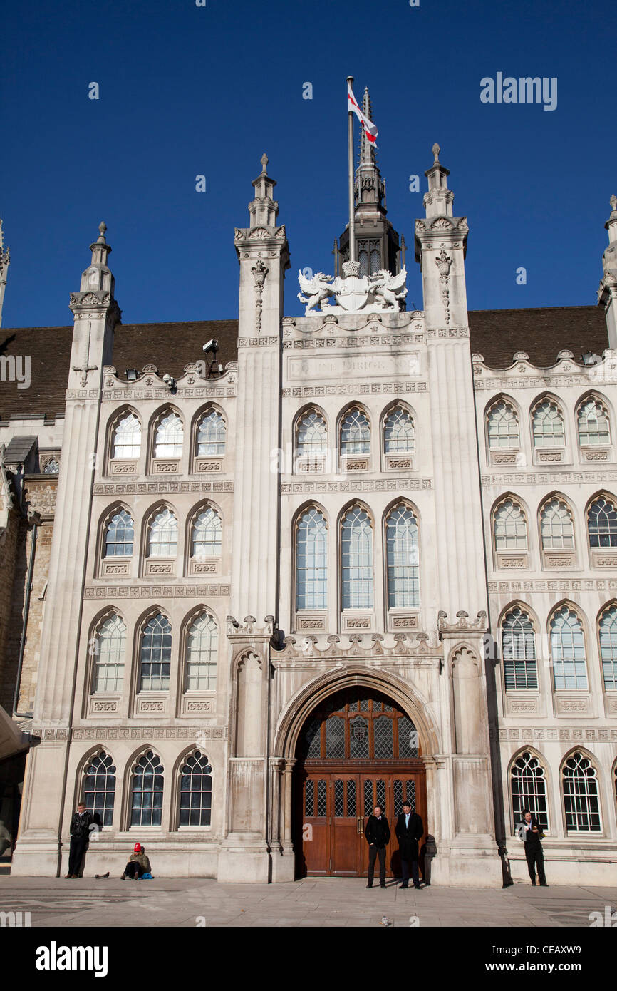 The Guildhall, where the City of London Corporation and various public facilities are based. - Stock Image