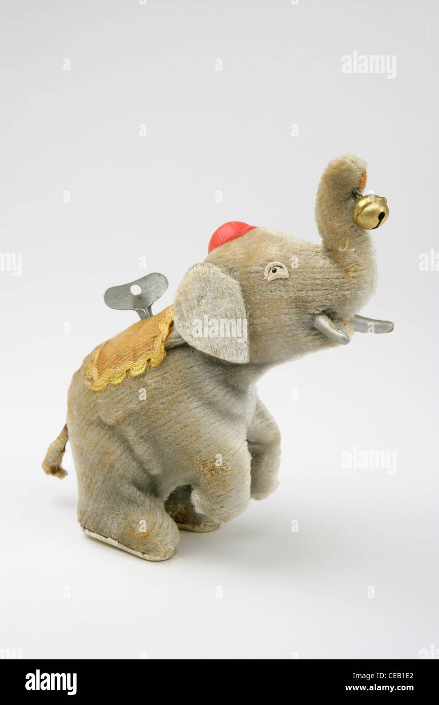 Post War Japanese Elephant toy - Stock Image