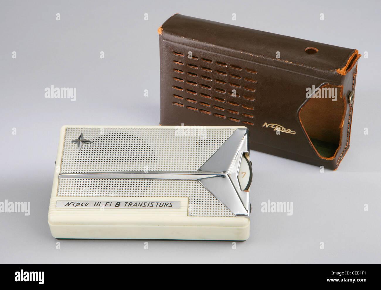 Transistor Radio 1958 - Stock Image