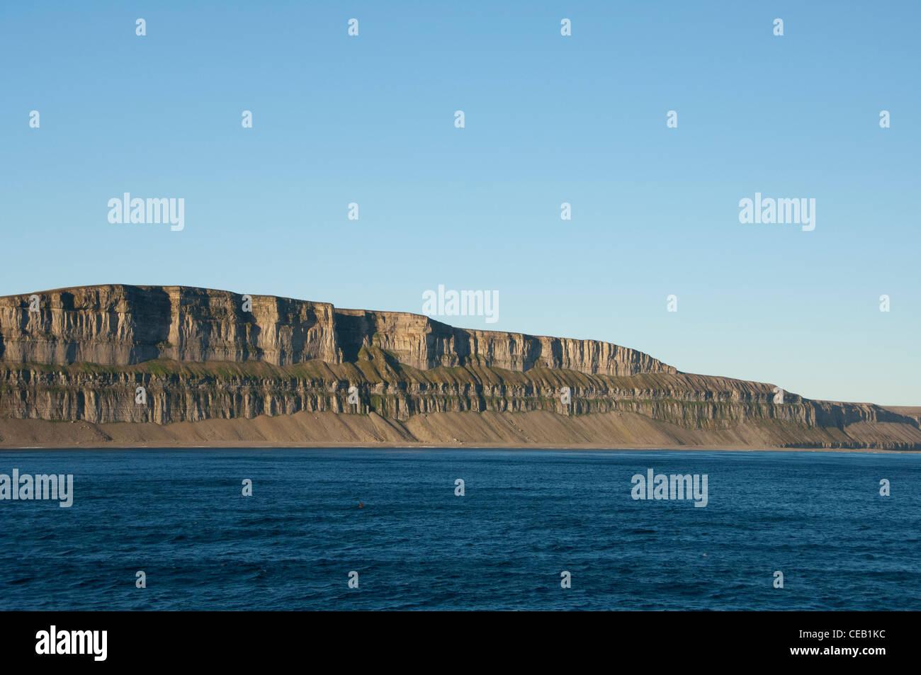 Canada, Nunavut, Qikiqtaaluk Region, remote Akpatok Island. - Stock Image